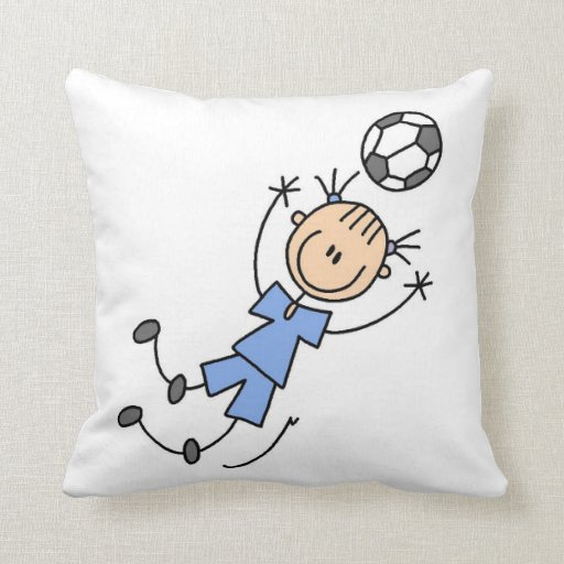 Girl Blue Uniform Soccer Player T-shirts and Gifts Throw Pillow