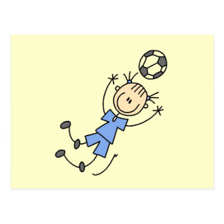 Girl Blue Uniform Soccer Player T-shirts and Gifts Postcard