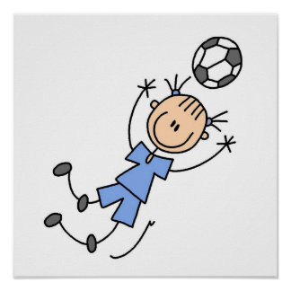 Girl Blue Uniform Soccer Player T-shirts and Gifts Poster