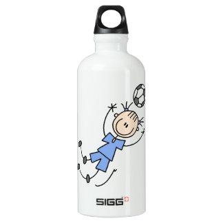 Girl Blue Uniform Soccer Player T-shirts and SIGG Traveler 0.6L Water Bottle