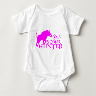 GIRL BOAR HUNTING BABY BODYSUIT