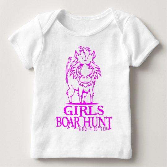 GIRL BOAR HUNTING BABY T-Shirt