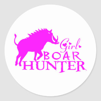 GIRL BOAR HUNTING STICKER