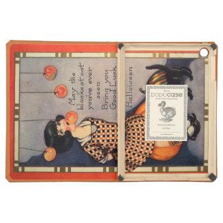 Girl Bobbing For Apples Black Cat Pumpkin iPad Air Covers