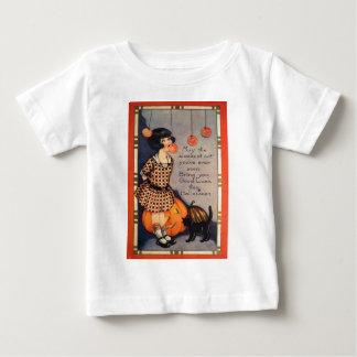 Girl Bobbing For Apples Black Cat Pumpkin Tshirts