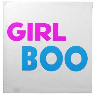 Girl Boo Neon Pink & Blue Cloth Napkin