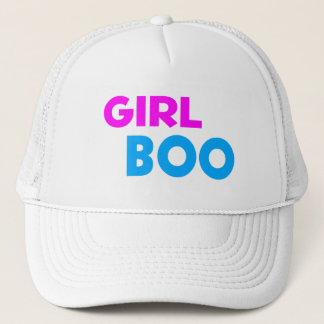 Girl Boo Neon Pink & Blue Trucker Hat