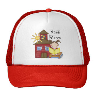 Girl Book Worm T-shirts and Gifts Trucker Hat