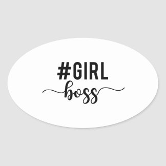 girl boss oval sticker