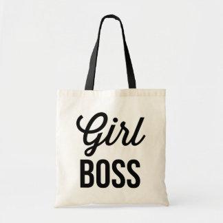 GIRL BOSS | Retro Typography Mug Budget Tote Bag
