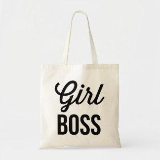 GIRL BOSS | Retro Typography Mug Tote Bag