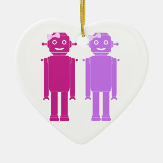 Girl Bots Ceramic Ornament