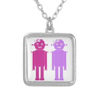 Girl Bots Silver Plated Necklace