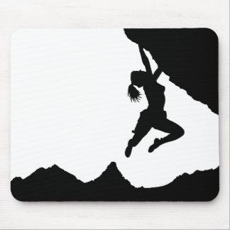 girl boulderer and Matterhorn Mouse Pads