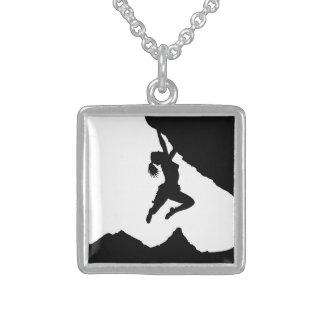 girl boulderer and Matterhorn Sterling Silver Necklace