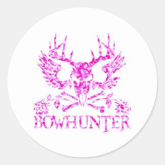 GIRL BOWHUNTER CLASSIC ROUND STICKER