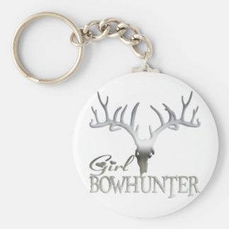 GIRL BOWHUNTER DEER KEYCHAIN