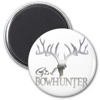 GIRL BOWHUNTER DEER MAGNET