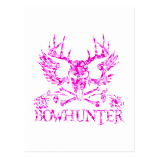 GIRL BOWHUNTER POSTCARD