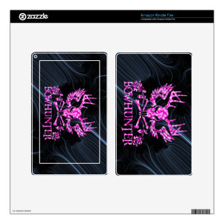 GIRL BOWHUNTER DECAL FOR KINDLE FIRE
