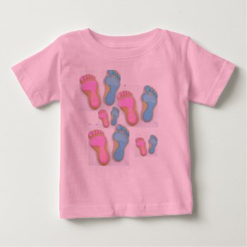 Girl Boy Footprints  Top Tee Shirt by CREATIVEforKIDS at Zazzle