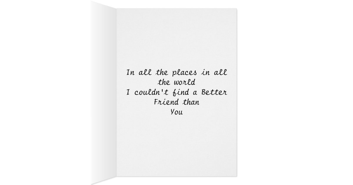 Girl+Boy Perfect Friendship Card | Zazzle