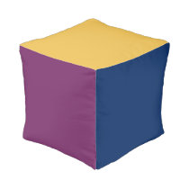 Girl / Boy Polyester Cubed Pouf Trendy multi-color Cube Pouf