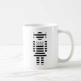 Girl Brittany flag Breizh Morbihan Coffee Mug