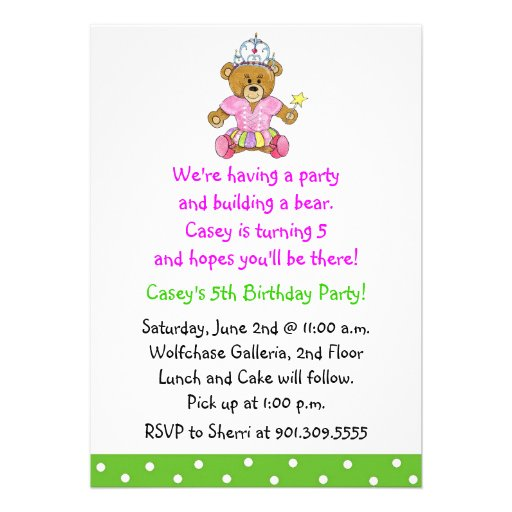 Personalized Build a bear party Invitations CustomInvitations4Ucom