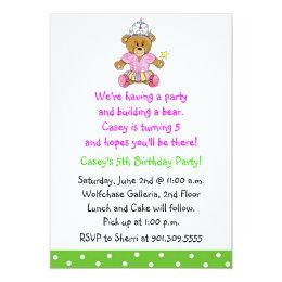Build a bear invitations announcements zazzle girl build a bear invitation filmwisefo Images