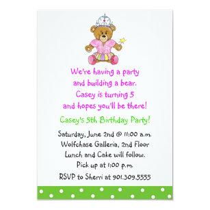 Build A Bear Invitations Zazzle