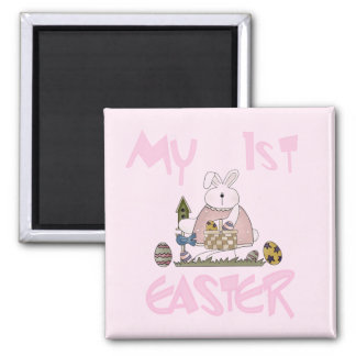 Girl Bunny My First Easter Tshirts and Gifts Fridge Magnet