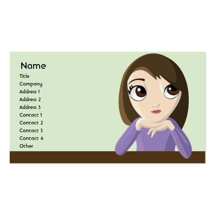 Girl - Business Business Card