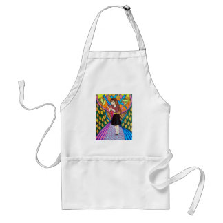 Girl, Butterfly, And Birds In A Garden Apron
