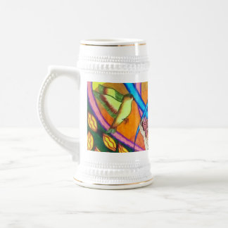 Girl, Butterfly, And Birds In A Garden Coffee Mugs