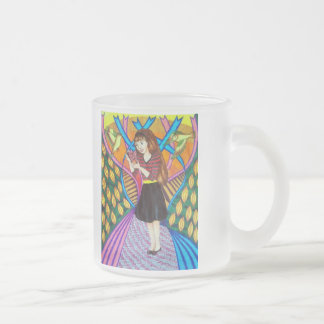 Girl Butterfly And Birds In A Garden Coffee Mugs