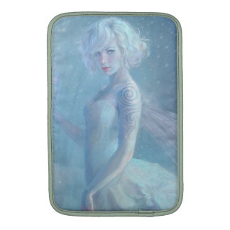 Girl Butterfly Painting When Blonde Snow Winter Sleeve For MacBook Air
