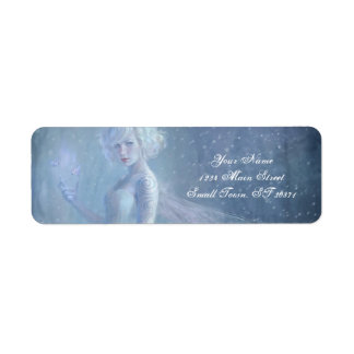 Girl Butterfly Painting When Blonde Snow Winter Label
