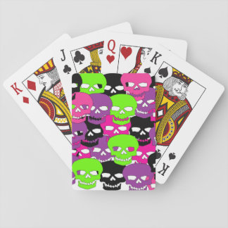Girl Camo Skull Cards Poker Cards