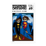 Girl Caped Superheroes Postage