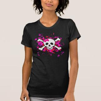 Girl Cartoon Skull T-Shirt