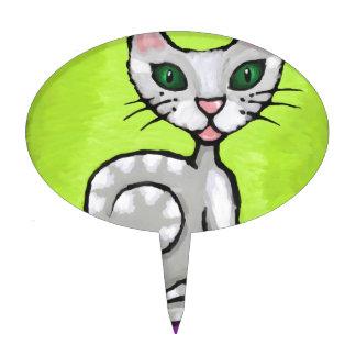 girl cat cake topper