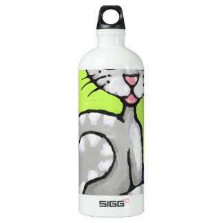 girl cat water bottle