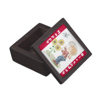 Girl catching a butterfly premium gift box