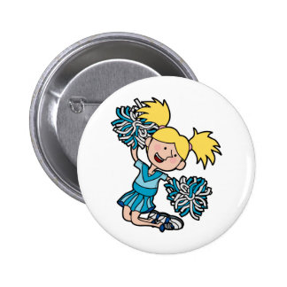 girl cheerleading jumping in the air buttons
