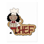 Girl Chef African American Tshirts and Gifts Postcard
