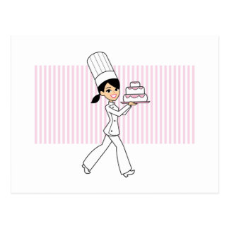 Girl Chef Print Postcard