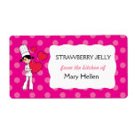 Girl Chef Theme Labels for Jar or