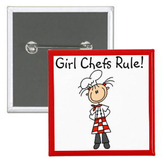 Girl Chefs Rule 2 Inch Square Button