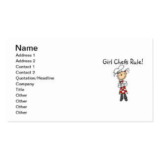 Girl Chefs Rule Double-Sided Standard Business Cards (Pack Of 100)